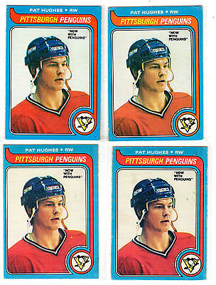 1X PAT HUGHES 1979-80 OPC #65 RC Rookie EX-EXMT O Pee Chee PENGUINS Lots Availab