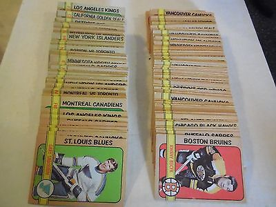 1X 1972-73 opc COMPLETE YOUR SET U-Pick 1.39ea EX-EXNM Lots Available O Pee Chee