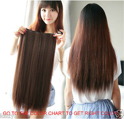 Full Head One Piece Clip In Remy 100% Human Hair Extensions Hair pieces so thick