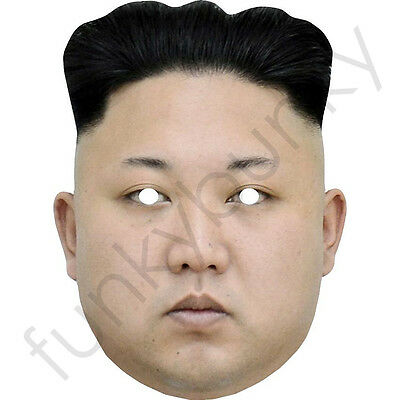 Kim Jong-un - Celebrity Fun Card Mask - All Our Masks Are Pre-Cut!