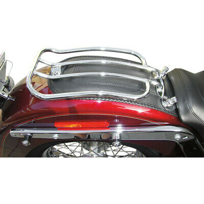 """Motherwell Chrome 7"""" Solo Luggage Rack Harley Softail Fat Boy 07-Up Deluxe 05-Up"""