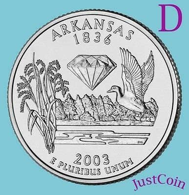 2003-D Arkansas (Ar) State Quarter Uncirculated From U.s. Mint * State Quarters