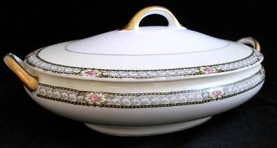 Noritake CHANDOVA Oval Covered Vegetable Bowl Vintage 68453 GREAT CONDITION