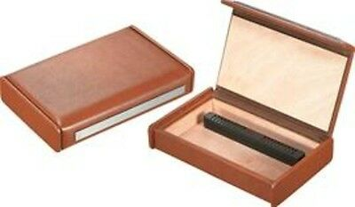 Visol Visol Russell Brown Leather Travel Cigar Humidor with Humidifier VHUD81