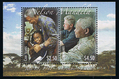 Cook Islands Nelson Mandela Commemorative Souvenir Sheet Stamp Issue