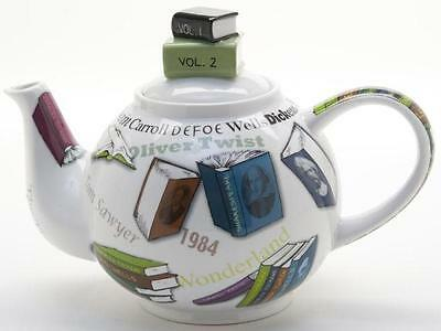 New boxed Paul Cardew book lovers NOVEL-TEA small 2 cup novelty teapot