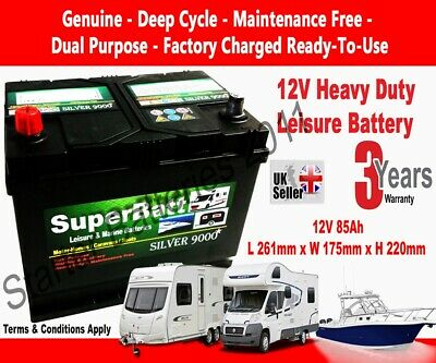 12V 85AH Leisure Battery SuperBatt CB85 for Motorhome / Caravan / Campervan
