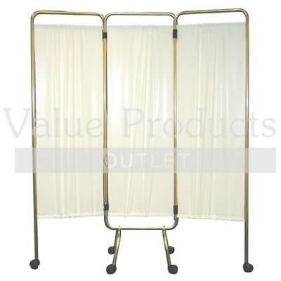 3 Shutter Folding Medical Patient Privacy Screen Curtain - Hospital Doctors Room