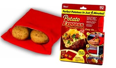 Potato Express Cooking Bag - Microwave Cook Baked Potatoes in 4 fast minutes!