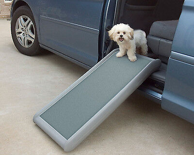 Solvit Half Ramp II Pet Ramp Weighs only 7 lbs but supports over 200 lbs.