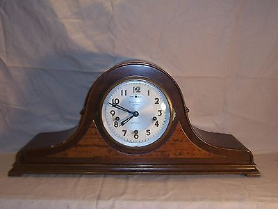 Antique New Haven  8 Day Westminster Chime Mantle Clock