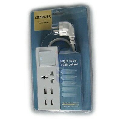 New Patent 4 USB Ports Multi-function Travel Household and Similar Use Chargers