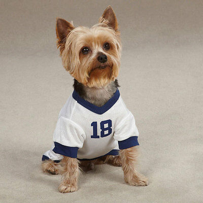 Leader of the Pack #18 Dog Jersey Tee Shirt  White Navy Miscellaneous Sizes