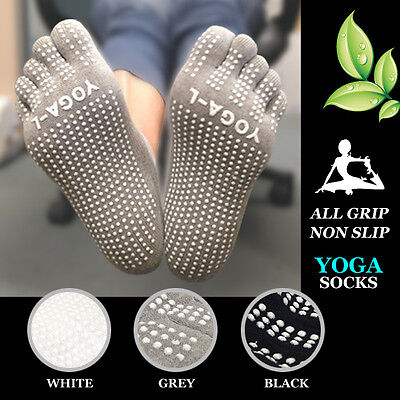 Cotton Yoga Socks - All Grip, Non Slip, Arch Support