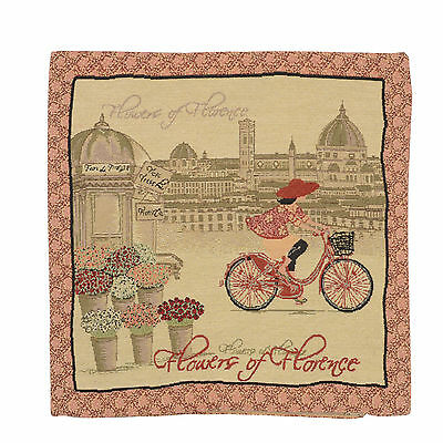 "Wholesale Job Lot 10x Cushion Covers Designer ""Bicycle"" Tapestry 18"" (45cm) New"