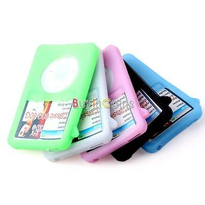 Soft Silicone Cover Case For iPod Classic 80GB Colorful BA AU