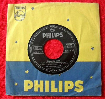 """Single 7"""" Louis Armstrong - Mack the Knife"""