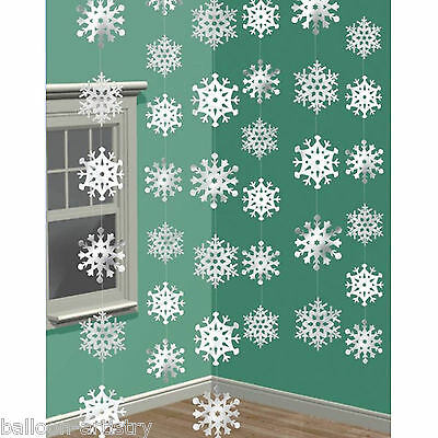 6 7ft Snowflake Strings Christmas Decorations Party Supplies