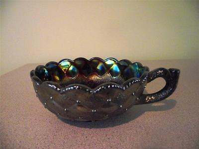 Imperial Iredescent Carnival Bowl with Handle