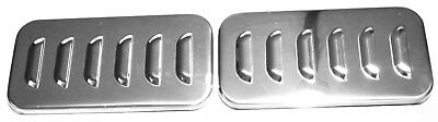 sleeper vent door cover(2) louvered Stainless steel for Freightliner Century