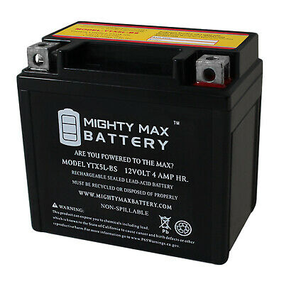12V 1AMP CHARGER Mighty Max YTX5L-BS GEL Battery for Yamaha TMF90R Raptor ATV