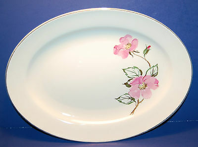 EDWIN M. KNOWLES USA ACCENT LINE SWEETBRIAR PATTERN 14 INCH SERVING PLATTER 19-T