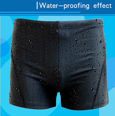 Men's Boy Swimming Swim Trunks Boxer Shorts Jammers Shark Skin Racing Pant SMT02