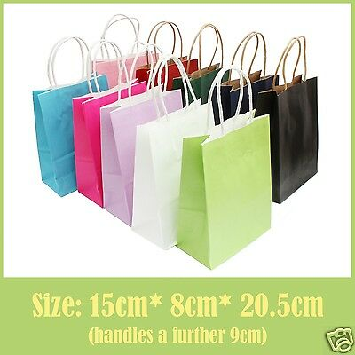 Colour Paper Bags with handles for Wedding Gift, Hen Party, Birthday Loot Bag