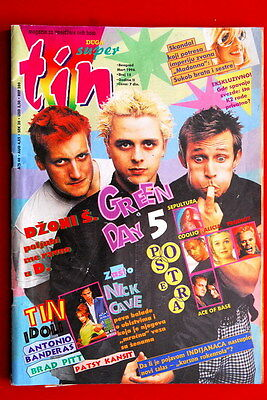 Green Day On Cover 1996 Very Rare Exyug Magazine