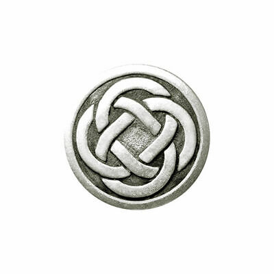 Oxidized Silver Metal Celtic Knot Buttons - 3 Sizes & 2 Sets - 15mm, 19mm, 23mm