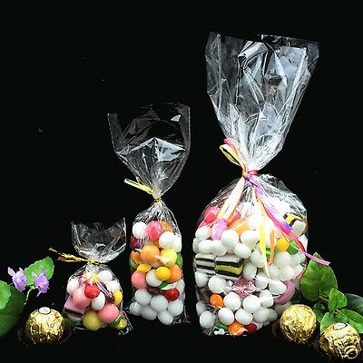 CLEAR CELLOPHANE Gusset CELLO DISPLAY BAGS FOR LOLLIPOPS CAKE POPS SWEETS PARTY