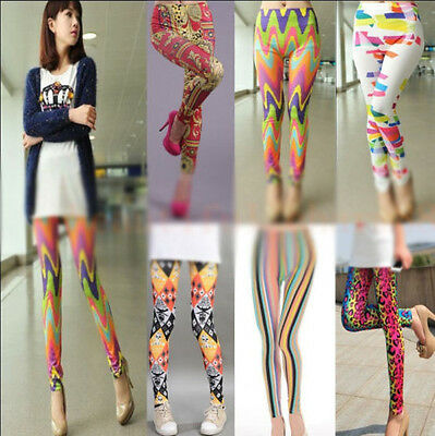 Sexy Women Skinny Colorful Jeggings Stretchy Pants Soft Leggings Pencil Pant