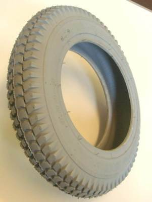 300x8 Grey Block Tread Mobility Scooter Tyre 3.00-8