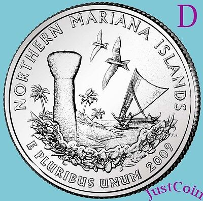 2009-D Nothern Mariana Islands Quarter Uncirculated From Mint * U.s. Territories