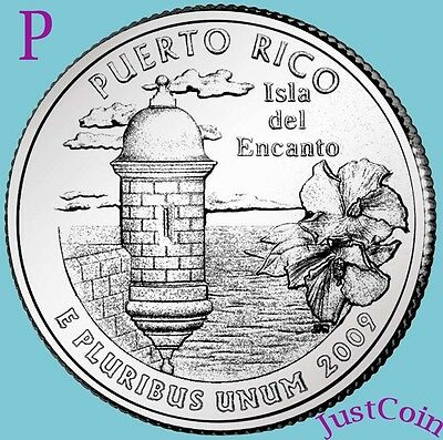 2009-P Puerto Rico Quarter U.s. Territories Uncirculated From U.s. Mint