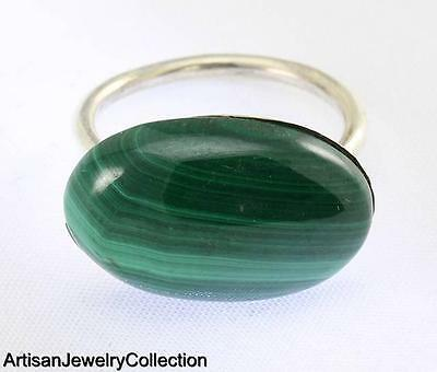 Malachite Size 6.25 Ring 925 Sterling Silver Artisan Jewelry Collection R552A