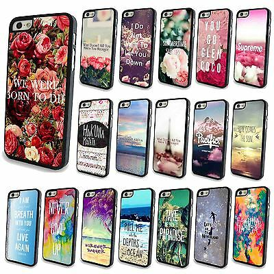 For iPhone 4 4S 5 5S 5C Painted Romantic Poem Back Skin Cover Case Protector New
