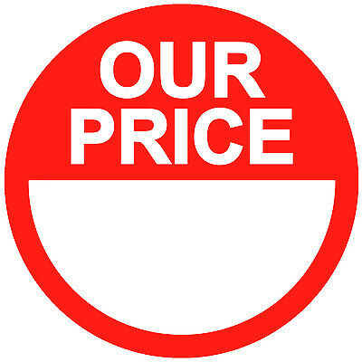 Bright Red RRP / Our Price Point Stickers / Sticky Swing Tag Labels