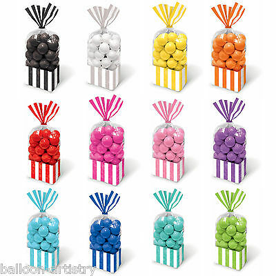 Classic Stripes Treat Loot Party Supplies Sweet Plastic Candy Bags In 1 Listing