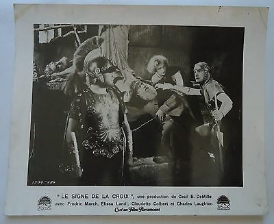CECIL B.DE MILLE/SIGN OF THE CROSS//french photo