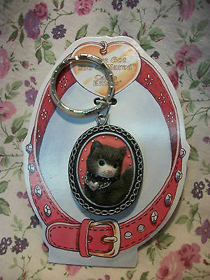 Calico Kittens Key Chain Black Trim 454842