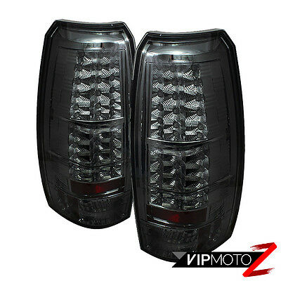 07 13 chevy avalanche smoke tinted left right set rear brake 2007 2013 chevy avalanche smoke lens led smd rear brake tail lights lamps