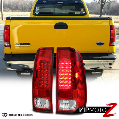 97-03 Ford F150 RED/CLEAR  LED Brake Signal Tail Light Lamps Left+Right Assembly