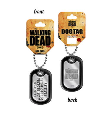 Walking Dead Property of W.Georgia Correctional Metal Dog Tag Necklace