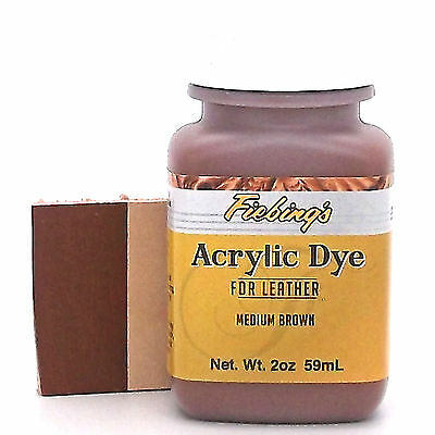Fiebing's Acrylic Leather Dye Medium Brown Paint 2 oz. (59mL) 2604-03 ACRD27P002