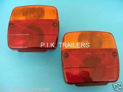 2 x AJBA FP11 Rear Lamp Lights fitted to Erde & Daxara trailer