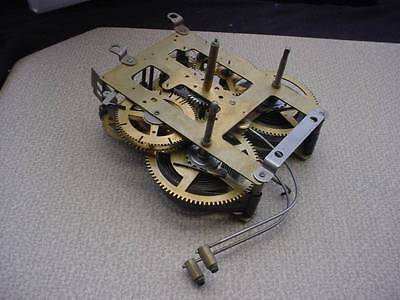 USA  Brass Mantle Clock Movement Time & Strike for Restoration Work E098