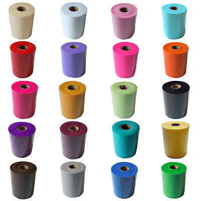 "6"" x 100 Yards Soft Tulle Roll Wedding Bridal Tutu Spool Gift Wrap Craft Fabric"