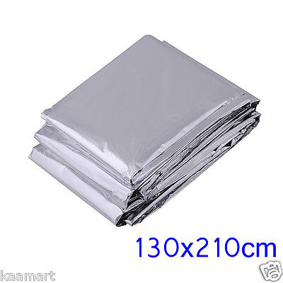 "10 pc Mylar Rescue Space Foil Thermal Emergency Blanket Camping Hiking 83"" X 51"""