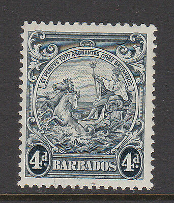 BARBADOS 1938-47 4d WITH CURVED LINE AT TOP RIGHT SG 253b M/MINT.